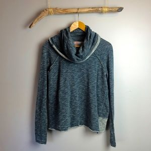 Free People Beach Grey Cocoon Cowl Neck Pullover